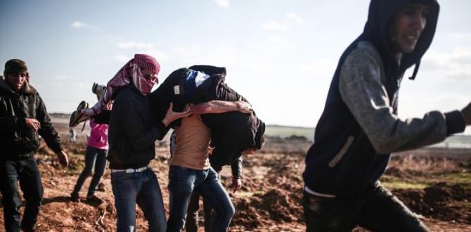 Filistin'de korkunç bilanço: 2 şehit, 217 yaralı