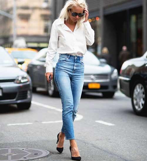 Yeni Trend Yüksek Bel Pantolon Kombinleri