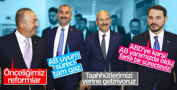 AB Reform Grubu Bakanlarının manâlı mesajları