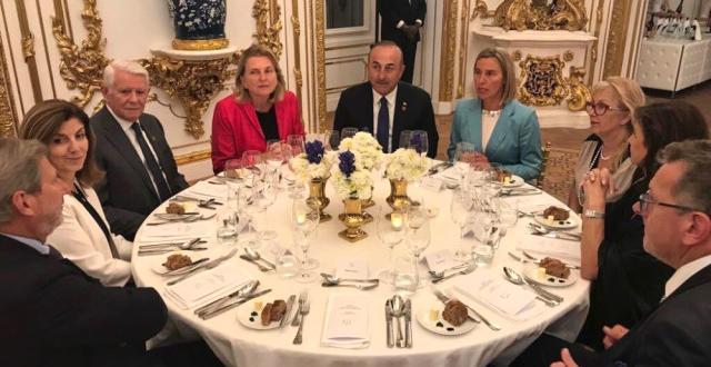 Bakan Çavuşoğlu, Viyana'da Resepsiyona Katıldı