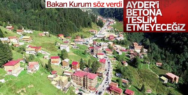 Bakan Murat Kurum: Ayder'i betona teslim etmeyeceğiz