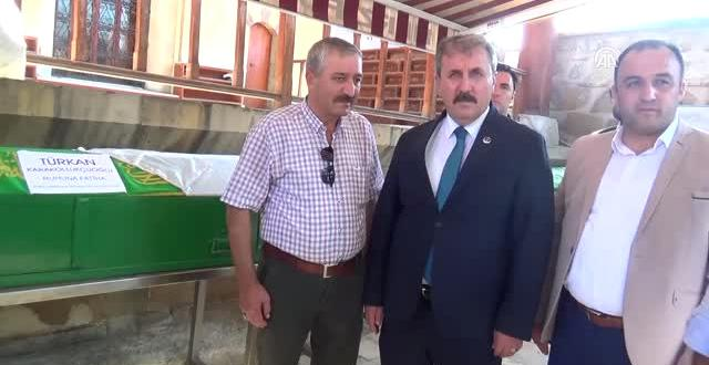 BBP Genel Başkanı Destici, Cenaze Törenine Katıldı