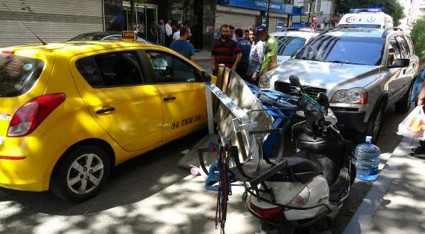 Bonzai içtiği iddia edilen taksicinin kaza hatıra