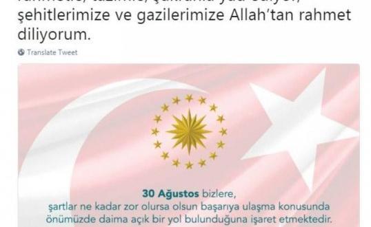 Cumhurbaşkanı Erdoğan'dan Galibiyet Bayramı mesajı