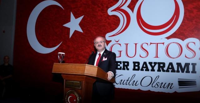 Eskişehir'de 30 Ağustos Zafer Bayramı Resepsiyonu Verildi