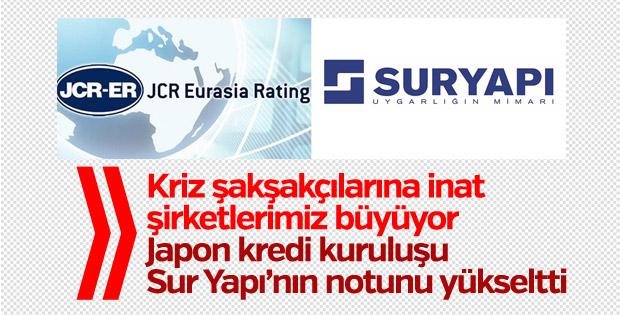 JCR, Sur Inşa ve Sur Enerji 'nin kredi notunu yükseltti
