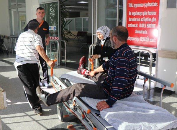 Kayseri'de acemi kasaplar hastanelere akın etti