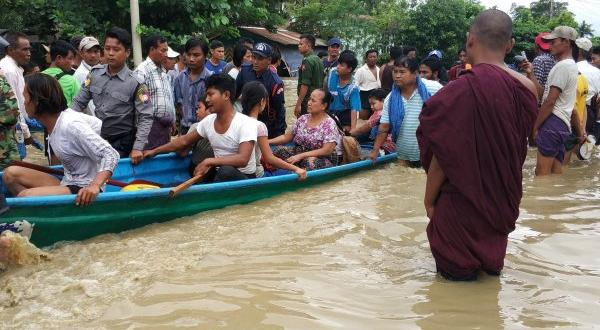 Myanmar 'da baraj çatladı: 50 bin kişi tahliye edildi