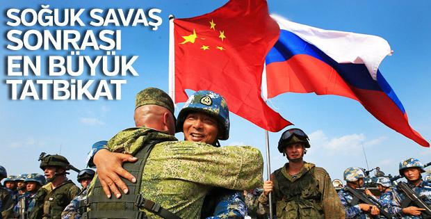 Rusya ile Çin'den heybetli askeri tatbikat
