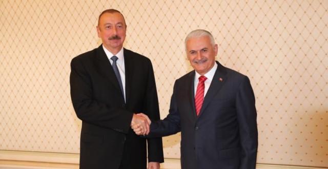 TBMM Başkanı Yıldırım, Azerbaycan Cumhurbaşkanı Aliyev ile Görüştü