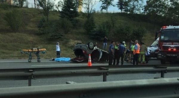 TEM'de trafik kazası: 1 birey hayatını kaybetti