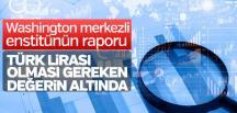 'Türk Lirası adaletli değerinin altında'