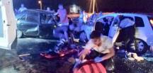 Uşak'ta trafik kazası: 2 ölü 6 zarar görmüş