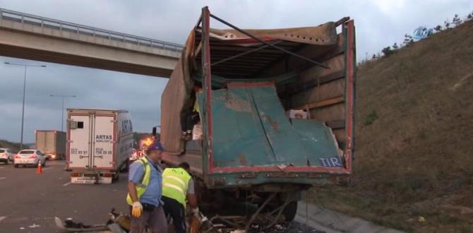 Yavuz Sultan Selim Köprüsü çıkışında kaza: 2 ölü