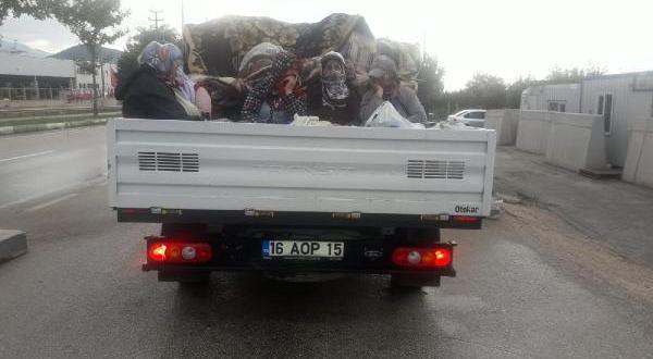28 işçiyi taşıyan araca trafikten men ve para cezası
