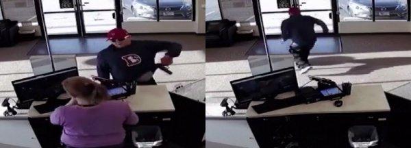 ABD'li sakar soyguncu silahı düşürünce kaçtı