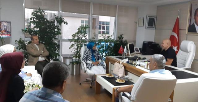 AK Parti Erzurum Milletvekili Zehra Taşkesenlioğlu Öz Ulaş Başkanı Sedat Şahin'i Ziyarette Bulundu
