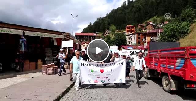Ayder Yaylası nda Tulum Eşliğinde Yürüdüler
