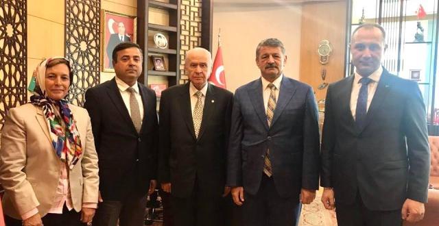 Başkan Akın MHP Lideri Bahçeli ile Görüştü