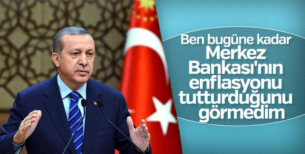 Başkan Erdoğan MB'nin öngörüsüzlüğüne dikkat çekti