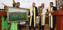 Cumhurbaşkanı Erdoğan'a Manas Üniversitesinden Fahri Doktora