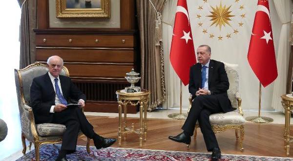 Cumhurbaşkanı Erdoğan, Bbva Yönetim Kurulu Başkanı Gonzalez'i Kabul Etti