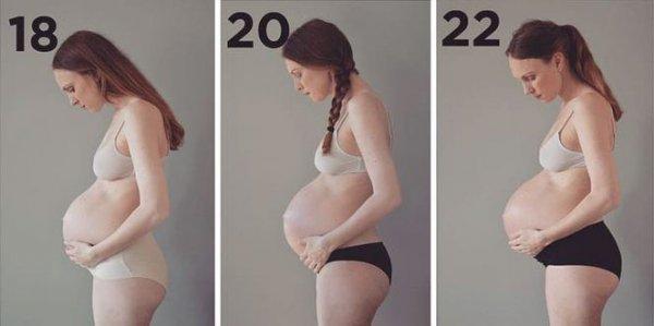 Danimarkalı kadın hamileliğin evrelerini fotoğrafladı