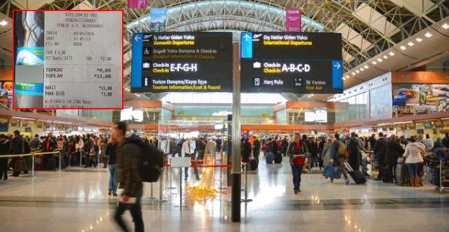 Havaalanından Aldığı Suya 6 Lira Ödeyen Vatandaş, Duruma İsyan Etti