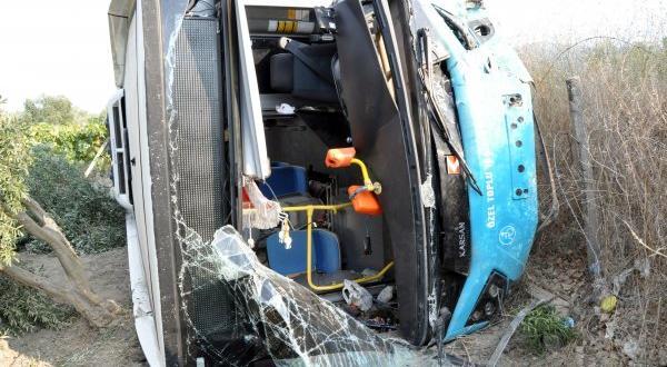 Kaza sırasında halk otobüsünde nefret edilen şey dolu anlar