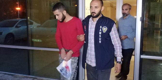 Samsun'da Irak uyruklu genç gasptan tutuklandı
