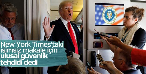 Trump, hakkında yazılan isimsiz makale hakkında konuştu