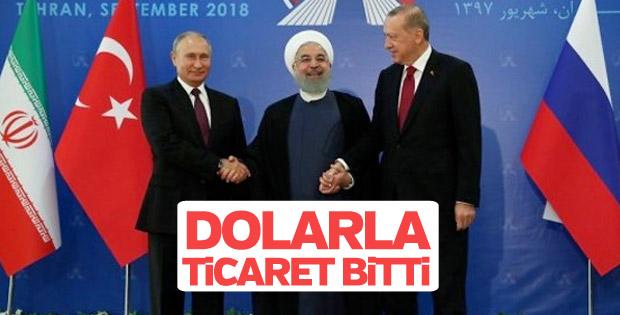 Türkiye-İran-Rusya aralarında yerel para birimiyle ticaret