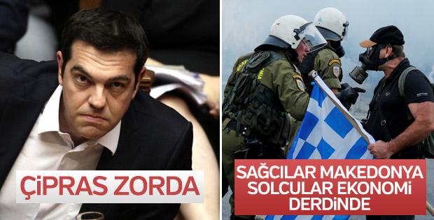 Yunanistan'da Makedonya Yunandır protestoları