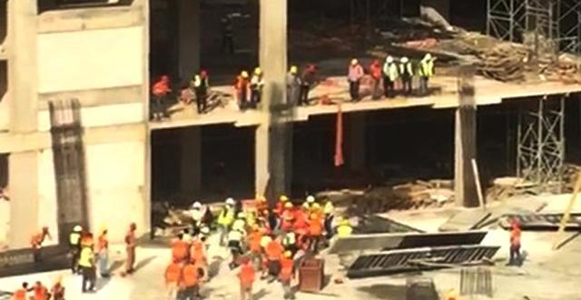 Avm İnşaatında İşçiler Birbirine Girdi: 7 Yaralı