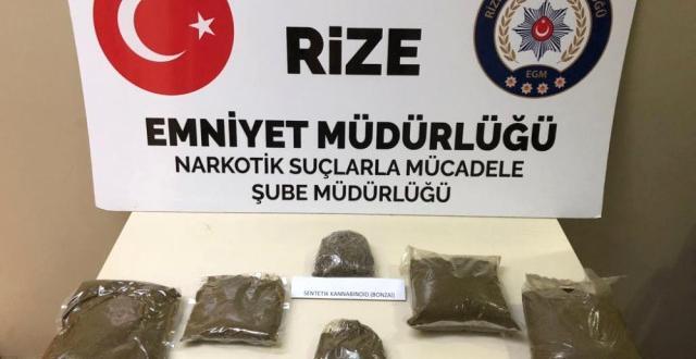 Rize de Uyuşturucu Operasyonu: 5 Gözaltı