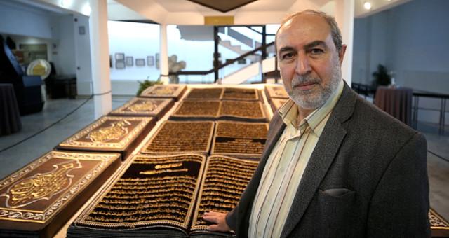 12 Yılda Kumaşa Nakış Gibi İşlediği Kur'an-ı Kerim'i Yüz Binlerle Buluşturdu