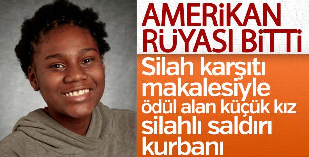 ABD'de silah karşıtı yazısıyla ödül bölge çocuk öldürüldü