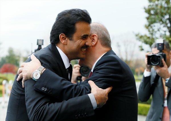 Erdoğan-Katar Şeyhi görüşmesi