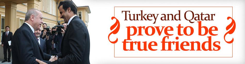 Erdoğan, Türkiye ve Katar şiddet günlerde birbirimizin arkadaş olduklarını söyledi