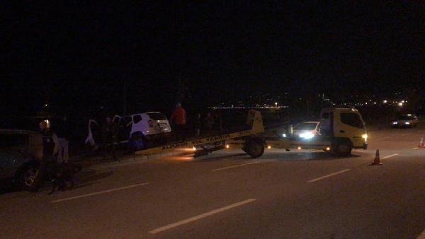 Giresun'da 'dur' ihtarına uymayan sürücü polislere çarptı