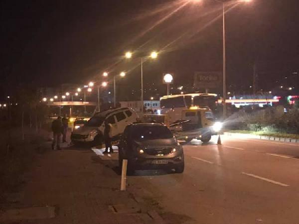 Giresun'da 'dur' ihtarına uymayan şoför polislere çarptı