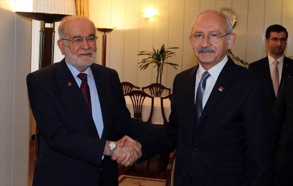 Kemal Kılıçdaroğlu, Temel Karamollaoğlu'nu ziyaret etti