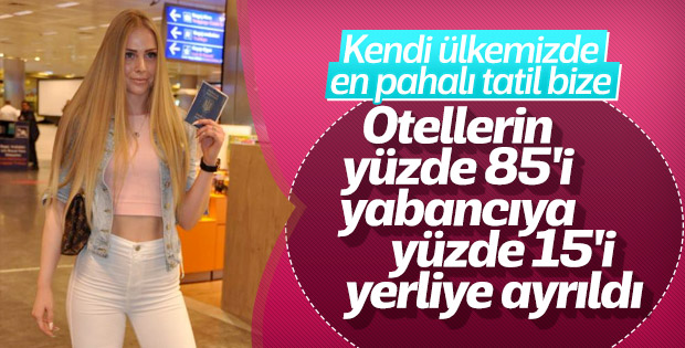 Otel odalarının yüzde 85'i yabancı turiste ayrıldı