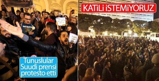 Suudi Arabistan Veliaht Prensi Tunus 'ta protesto edildi