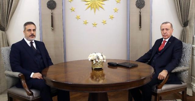 Cumhurbaşkanı Erdoğan, MITOS Başkanı Fidan'ı Kabul Etti