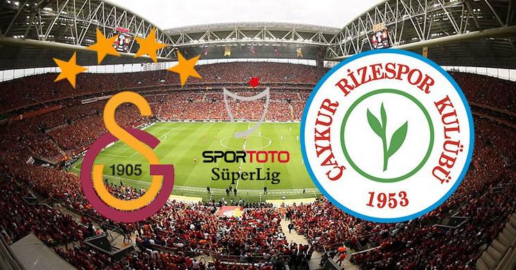 Galatasaray Yetkisiz Kadroyla Rizespor Karşı!