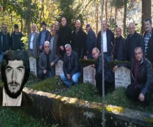 Rize 'nin Ülkücü Şehidi mezarı başında anıldı.