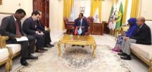 Somali Cumhurbaşkanı Fermacu, Büyükelçi Yılmaz'ı Kabul Etti