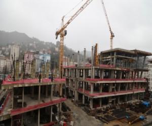Rize 'de AVM inşaatındaKaza.