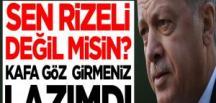 Cumhurbaşkanı Erdoğan'dan o isme: Sen Rizeli değil misin? Kafa göz girmeniz lazımdı